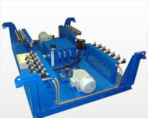 多連装ジャッキ用油圧ユニット